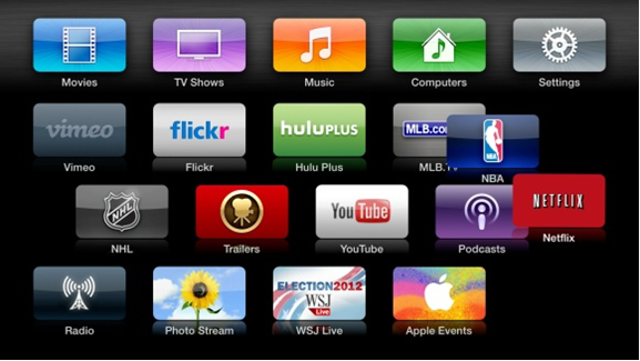 Apple TV home-screen