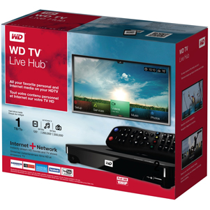 wd tv live hub in box
