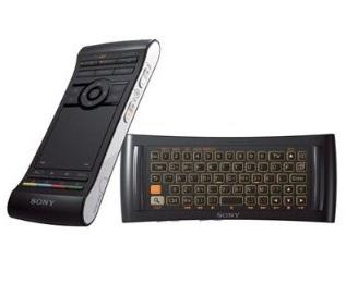 The dual-sided functional remote is among the best features of the Sony Internet TV media player. The front side has your typical TV remote commands, while the back side is a keyboard and touchpad.