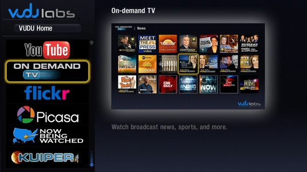 Vudu screen example