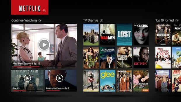 Netflix screen example