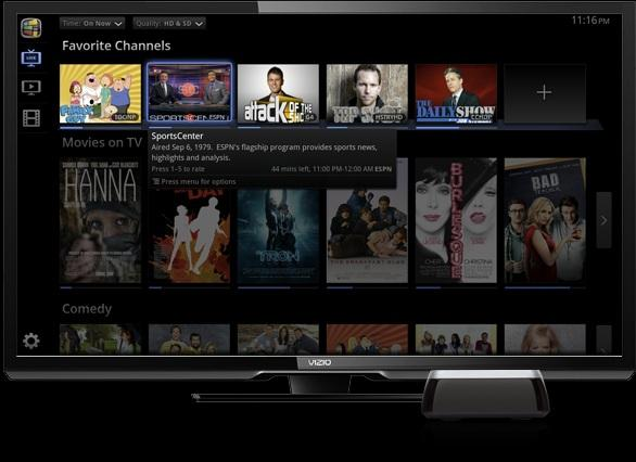 The Vizio Co-Star has nicely organized and colorful onscreen menus and easy navigation throughout the menu options.